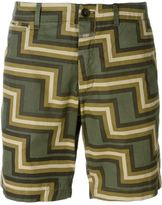 Closed geometric print bermuda - men - Cotton - 30
