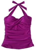 Women's Plus-Size Twist Tankini Swim Top - Amethyst