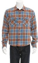 R 13 2016 Distressed Flannel Shirt w/ Tags