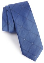 Men's Calibrate 'Connect Grid' Silk Skinny Tie