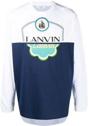 Lanvin printed logo long sleeve T-shirt