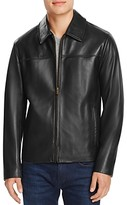 Cole Haan Leather Shirt Jacket