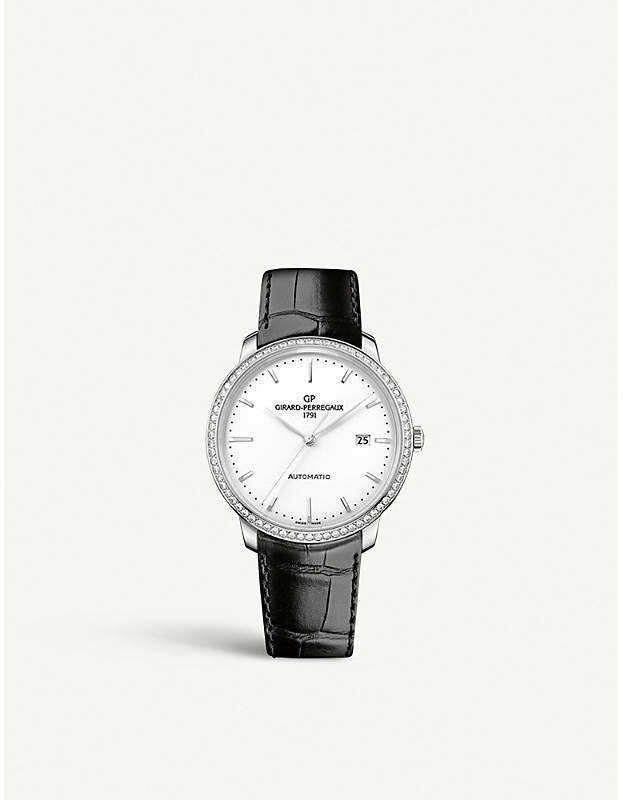 Girard Perregaux GIRARD-PERREGAUX 49545D11A131-BB60 1966 stainless steel and alligator leather watch