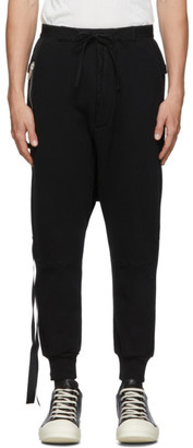 Unravel Black Basic Drop Crotch Sweatpants