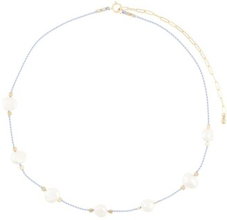 Petite Grand Lilac Pearl Cord Necklace