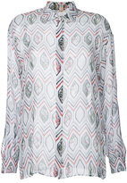 Giambattista Valli geometric printed shirt - women - Silk - 38