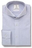 Maker & Company Men's Trim Fit Check Dress Shirt