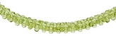 175 Carat Peridot Bead Necklace w/ Sterling Silver Toggle Clasp