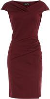 Feverfish Burgundy pleat dress