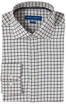 Vince Camuto White & Black Windowpane Slim Fit Dress Shirt