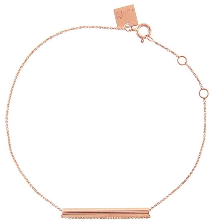 ginette_ny Straw Bracelet - Rose Gold