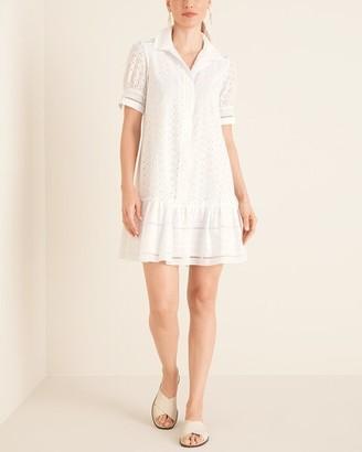 Taylor Embroidered Eyelet Short Dress