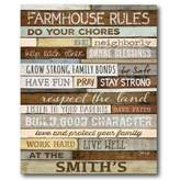 Courtside Market Farmhouse Rules Canvas Wall Art