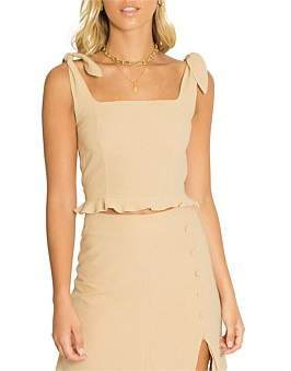 Toby Heart Ginger Lila Sleeveless Crop Top