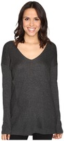 Heather V-Neck Stria Sweater