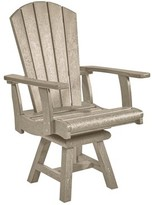 Beachcrest Home Mullens Patio Dining Chair Color: Beige, Swivel: No