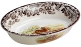 "Spode Woodland"" Rabbit Oval Rim Dish"