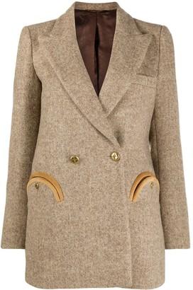 BLAZÉ MILANO Double-Breasted Virgin Wool Blazer