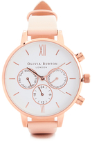 Olivia Burton Women's Chrono Detail Watch Nude Peach & Rose Gold