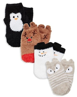 Trumpette Baby's Chilly Holiday 4-Pair Sock Set