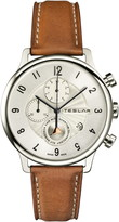 Teslar Re-Balance T-1 Chronograph Leather Strap Watch, 42mm
