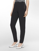 Calvin Klein Platinum Piper Extreme Skinny Side-Zip Cropped Pants