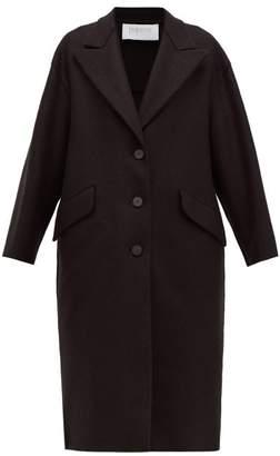 Harris Wharf London Oversized Single-breasted Pressed Wool Coat - Womens - Black