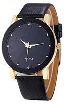 Big promotion ! Teresamoon watch Christmas Cheapest Quartz Sport Wrist Watch Men (Golden)