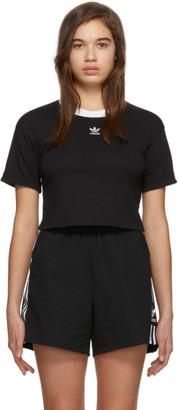 adidas Black Logo Crop Top
