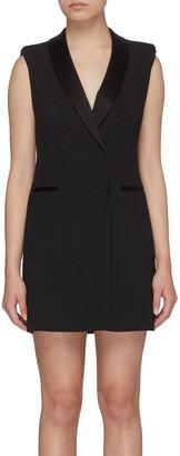 Alice + Olivia Valentina' Sleeveless Deep V-neck Tuxedo Dress