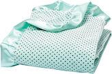 Trend Lab TREND LAB, LLC Mint Polka Dot Velour Blanket