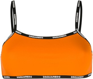 DSQUARED2 Logo-Tape Bikini Top