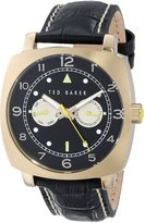 Ted Baker Men's TE1104 Multi-Function Gold-Tone and Leather Watch