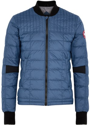 Canada Goose Dunham blue quilted shell jacket