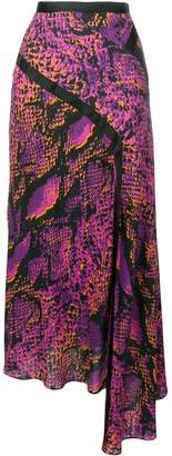 House of Holland snakeskin print asymmetric skirt