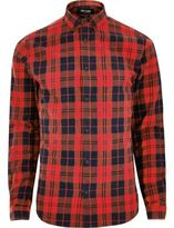 River Island MensRed Only & Sons casual check shirt