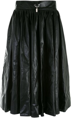 Christopher Kane Pleated Leather Skirt