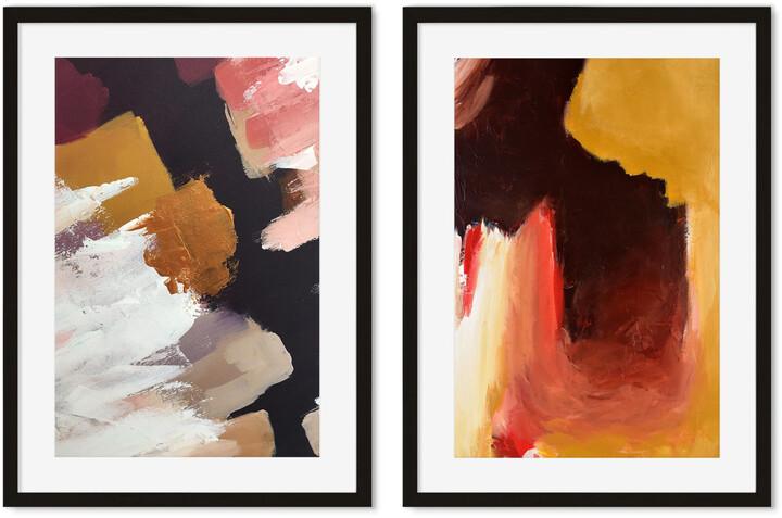 H&M Abstract Texture A2 Framed Set