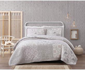 Cottage Classics Brigette Floral Cotton 3 Piece King Quilt Set