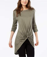 INC International Concepts I.n.c. Twist-Front Tunic, Created for Macy's