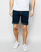 Asos Denim Shorts In Skinny Dark Wash