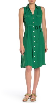 Superfoxx Sleeveless Midi Shirt Dress