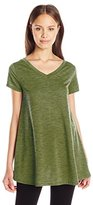 It's Our Time Juniors Double V Neck a Line Tunic Dress