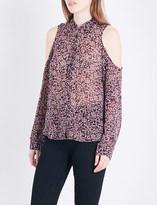 Paige Bellini cold shoulder silk-georgette shirt