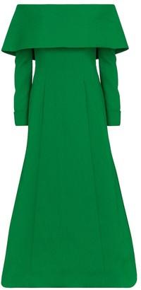 Emilia Wickstead Carole cloque off-shoulder dress