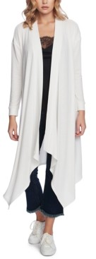 1 STATE Drape-Front Maxi Cardigan Sweater