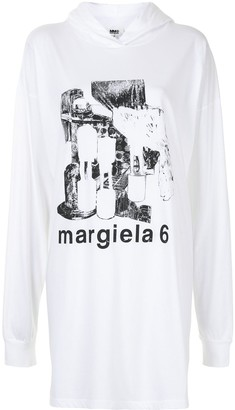 MM6 MAISON MARGIELA Graphic-Print Hoodie Dress