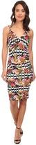 Nicole Miller Sidewalk Fruit Stripe Jersey Tank Dress