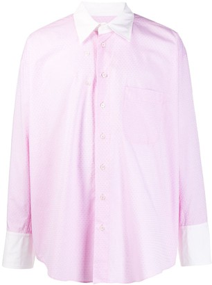 Magliano Two-Tone Floral-Pattern Shirt