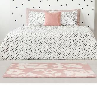 Laura Ashley Bennet Tea Rose/White Area Rug Rug Size: Rectangle 2' x 3'